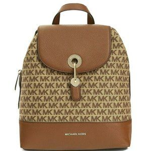 Michael Kors Raven Medium Brown/Ebony Backpack